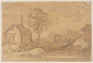 Landscape with Cottage and Tree