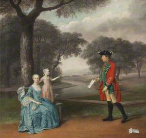 Francis Vincent of Weddington Hall, Warwickshire, with His Wife Mercy and Daughter Ann