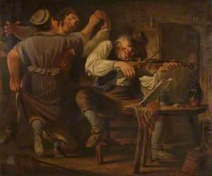 Fiddler and Dancing Peasants