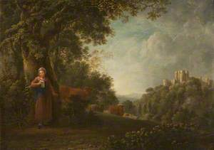 Romantic Landscape with Cattle and a Milkmaid