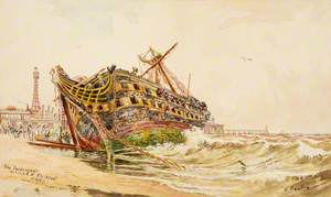 The 'Foudroyant' Wrecked at Blackpool
