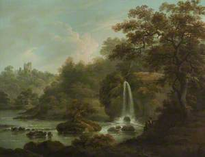 The Weeping Rock – A Waterfall at Hackfall near Ripon, West Riding of Yorkshire