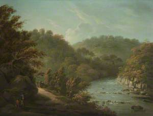 The River Ure at Hackfall, near Ripon, West Riding of Yorkshire