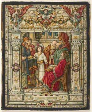 Stained Glass Design – Jesus among the Doctors
