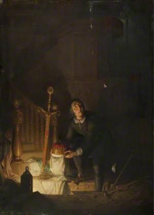 The Secreting of the Regalia of Scotland in Kineff Church, 1652