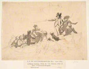 A Naval Action – Study for 'The Glorious First of June' in Greenwich Hospital