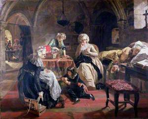 The Royal Family of France in the Prison of the Temple – Louis XVI, Queen Marie Antoinette, the Dauphin, Dauphiness, and Madame Elizabeth, the King's Sister