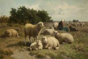 Dutch Landscape with Shepherdess