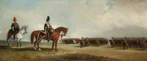 Lieutenant Colonel Sir Robert Tolver Gerard, Bt, and His Regiment, the Lancashire Hussars, on Parade