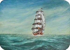 Tall Ship in Full Sail
