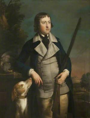 William Hulton with Gun-Dog and Shotgun