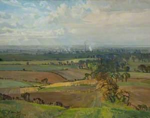 Panoramic View of Leyland and Farington