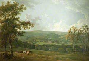A Distant View of Towneley Hall