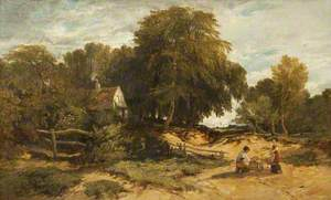 Wooded Landscape with Children