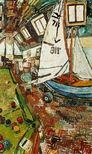 Sailboat in the Artist's Studio