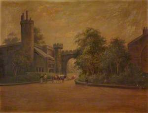 Entrance to Towneley Holmes, with Cattle