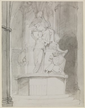 A Design, Half-Right, for the Monument of Lord Mansfield, Westminster Abbey