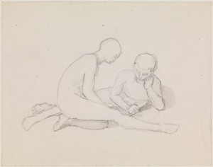 Two Boys Playing a Game on the Ground