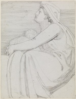 A Woman Seated to Left