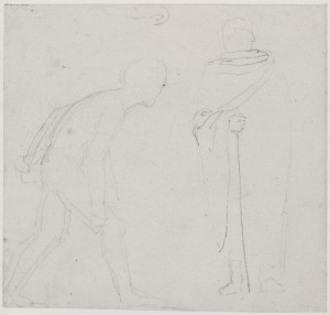 A Cloaked and a Nude Male Figure