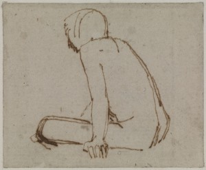 A Seated Figure, Facing Left