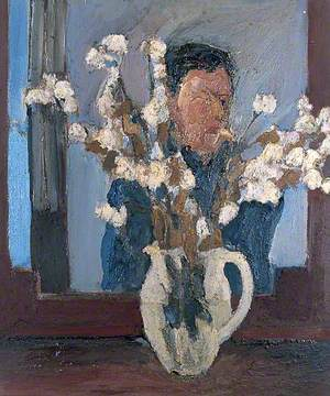 Man with a Vase of Flowers
