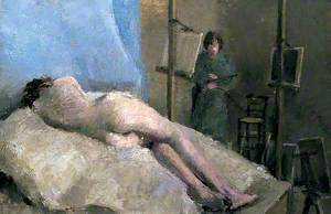 Female Figure Lying on a Bed