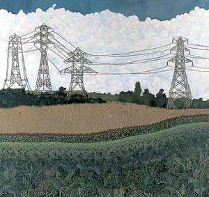 Landscape with Pylons
