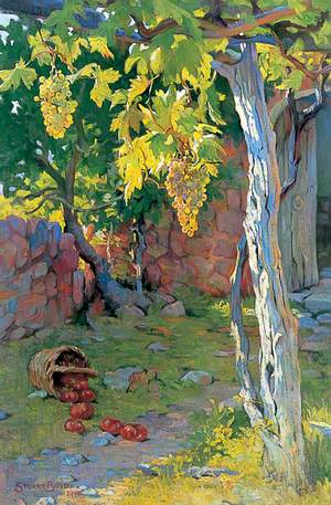 Landscape with Grapes and Apples