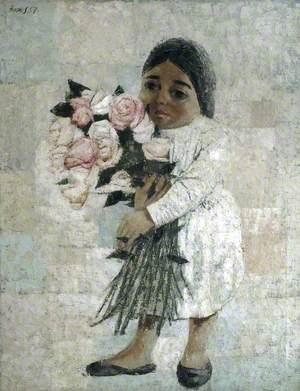 Nina with Flowers