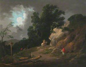 Landscape with an Approaching Storm
