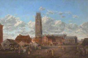 Boston Market Place and St Botolph's, Lincolnshire