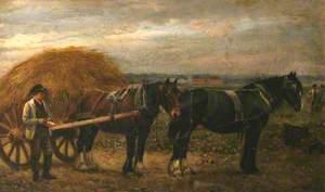 Men, Horses and a Hay Cart