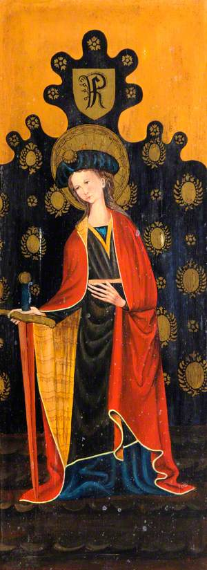 Saint Catherine with a Sword and a Book