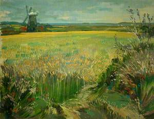 Burnham Overy Mill across the Cornfield, Norfolk