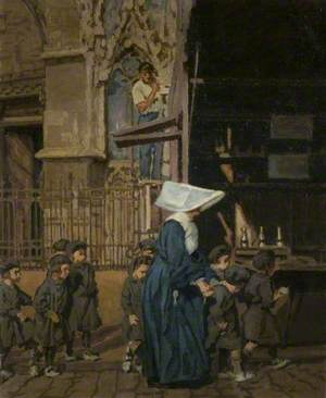 A Nun with Children