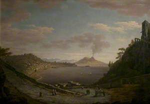 View of the Bay of Naples with Vesuvius in the Distance