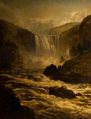 The Yellowstone Falls, Wyoming, USA