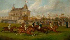 A Horse Race in Victoria Park, Leicester