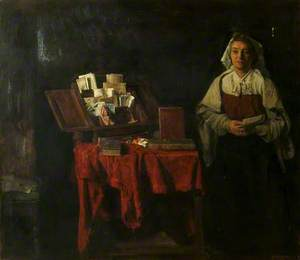 Portrait of a Woman with Books