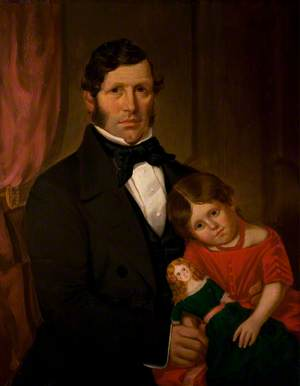 Mr Cresswell and His Daughter Charlotte (1854–1918)