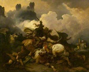 The Battle between Richard Coeur de Lion and Saladin in Palestine