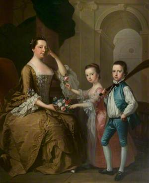 Mrs Matthew Michell and Her Children, Matthew and Anne