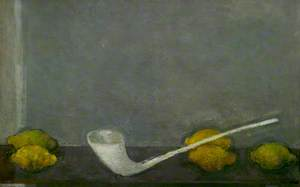 Still Life: Lemons and a Clay Pipe