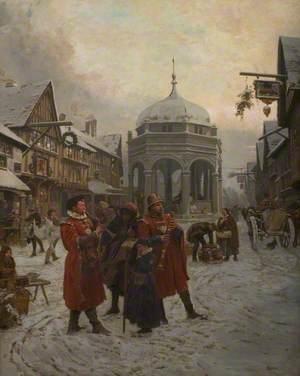 Christmas Eve, Highcross Market, Leicester, Sixteenth Century