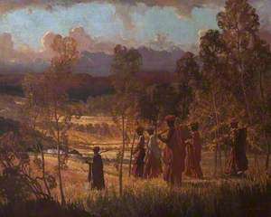 Bush Landscape with Figures