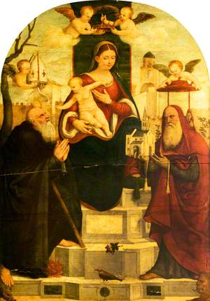 Madonna and Child Enthroned with Saint Anthony Abbot and Saint Jerome