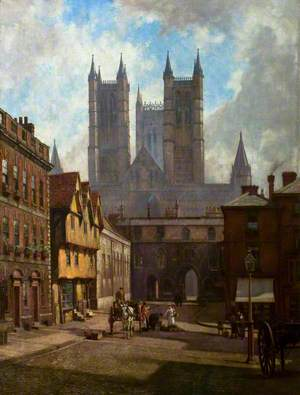 Lincoln Cathedral, Exchequer Gate and Castle Square