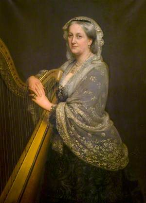 Louisa Cracroft-Amcotts (1819–1911), Wife of Gervase Tottenham Waldo Sibthorp, MP