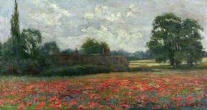 Thatched Cottage and Poppy Field